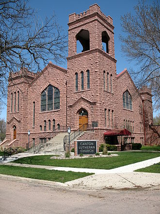 National Register of Historic Places listings in Lincoln County, South Dakota - Image: Canton Lutheran Church
