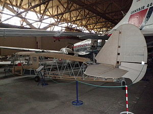Caproni Ca.310 - Partially restored Caproni Ca.310 bomber, Sola Aviation Museum
