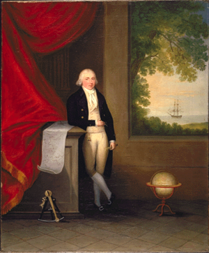 Antelope (1781 EIC packet ship) - Captain Henry Wilson, portrait about 1782 by Arthur William Devis