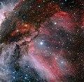 Carina Nebula around the Wolf–Rayet star WR 22.jpg