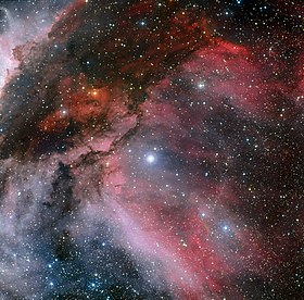 Carina Nebula around the Wolf–Rayet star WR 22.jpg