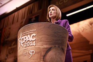 Carly Fiorina presidential campaign, 2016 - Carly Fiorina speaking at the 2014 Conservative Political Action Conference (CPAC) in National Harbor, Maryland, March 2014.