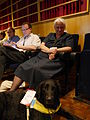 Carol Campbell and Gem at the Wikimania 2014 opening ceremony 01.jpg