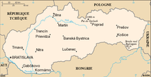 Description de l'image Carte de Slovaquie.png.