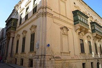 Admiralty House (Valletta) - Façade of Admiralty House