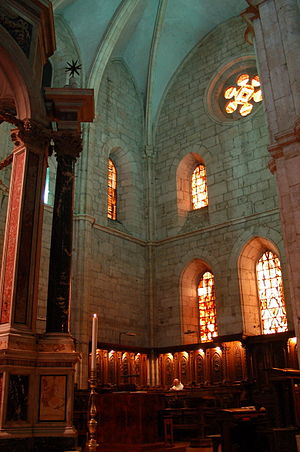 Casamari Abbey - The choir of the abbey church