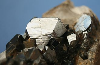 Cassiterite - Close up of cassiterite crystals,  Blue Tier tinfield, Tasmania, Australia