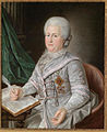 Catherine II in gray, wrigting by anonymous (18 c., priv.coll) 2.jpg