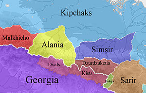 Avar Khanate - Image: Caucasus about year 1124