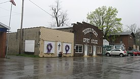 Main Street of downtown Cave-In-Rock, Illinois in 2013