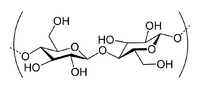 Cellulose is een polymeer van β-D-glucose