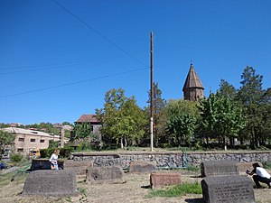 Diocese of Aragatsotn - The prelacy building located near the Church of Saint Marianeh in Ashtarak