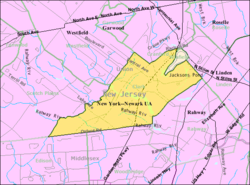 Census Bureau map of Clark, New Jersey.