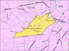 Census Bureau map of Clark, New Jersey.png