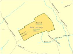Census Bureau map of Hopewell, New Jersey