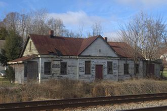 Richmond and Petersburg Railroad - Former Centralia Station of the Richmond and Petersburg Railroad in Chesterfield County, Virginia.