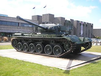 National Army Museum (New Zealand) - A Centurion tank displayed in front of the QEII Army Memorial Museum