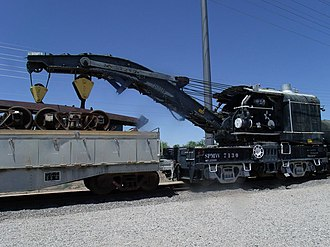 Arizona Railway Museum - Image: Chandler Railroad Steam Wrecking Crane and Tool Car 1910