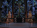 Chapel of the Resurrection - Altar with Christmas Trees.JPG