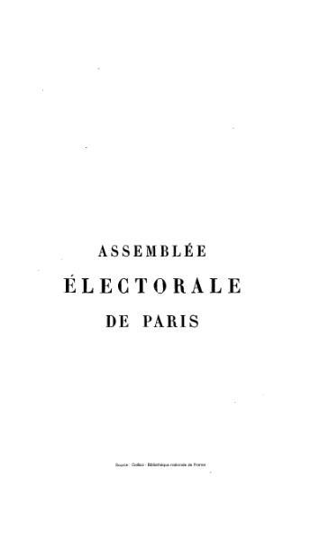 File:Charavay - Assemblée électorale de Paris, tome 1.djvu