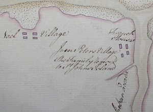 Maitland, Hants County, Nova Scotia - Charles Morris Map of Maitland, 1752 (inset)