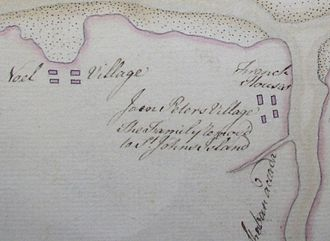 Maitland, Hants County, Nova Scotia - Charles Morris Map of Maitland, 1752 (inset)