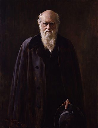 In 1881 Darwin was an eminent figure, still working on his contributions to evolutionary thought that had an enormous effect on many fields of science. Copy of a portrait by John Collier in the National Portrait Gallery, London. Charles Robert Darwin by John Collier.jpg