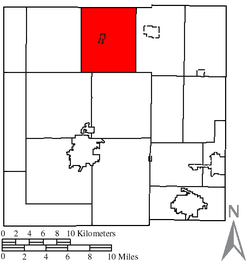 Location of Chatfield Township in Crawford County
