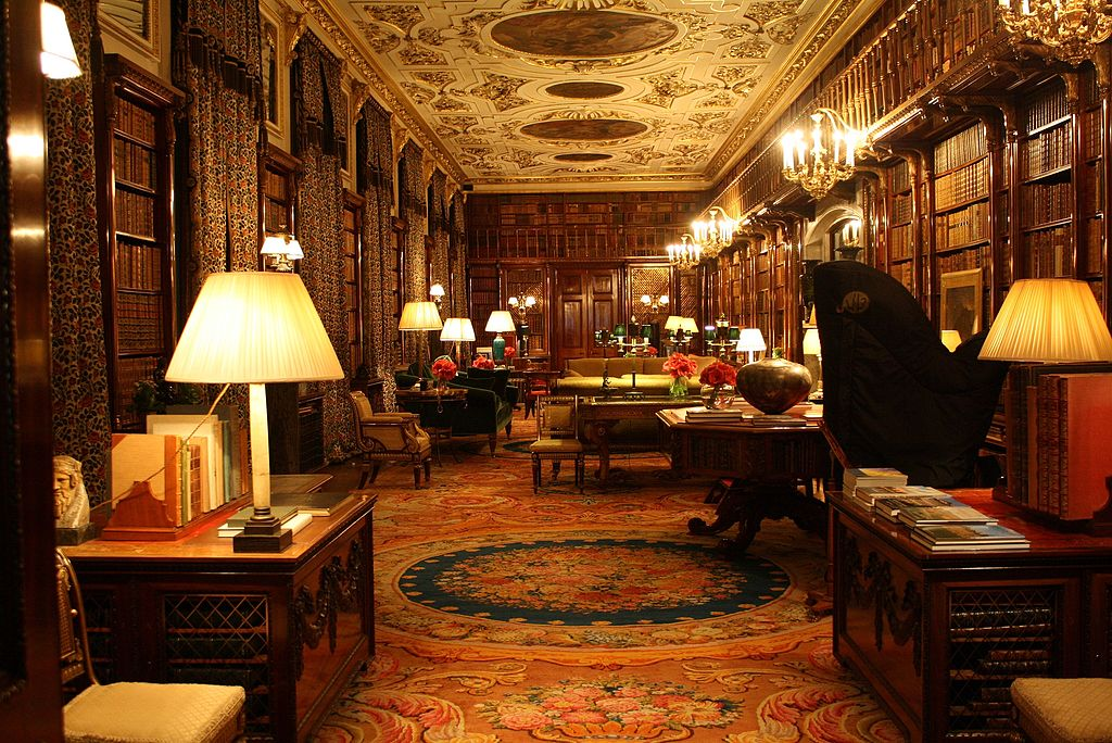 File Chatsworth House Library Jpg Wikimedia Commons