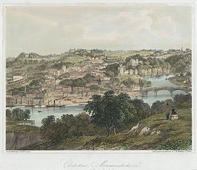 Chepstow, Monmouthshire (from Tutshill)