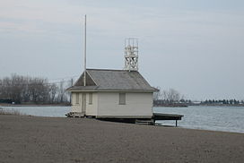 The life guard station on Cherry Beach