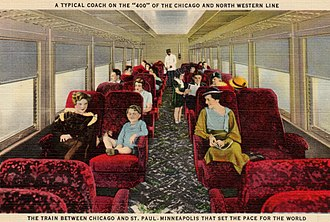 Twin Cities 400 - Image: Chicago and North Western Railway Twin Cities 400 coach