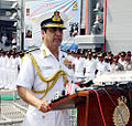 Chief of Naval Staff, Admiral RK Dhowan, addressing the Naval Investiture Ceremony 2015.jpg