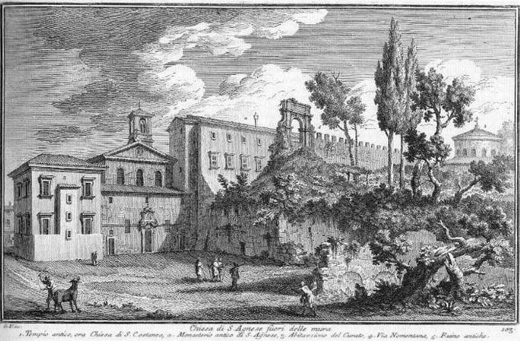 Chiesa di S. Agnese fuori delle Mura - Plate 103 - Giuseppe Vasi