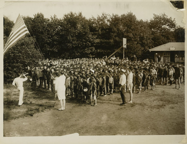 File:Children pledging the flag at Cedar Lake Camp, circa 1930 (6056995299).jpg