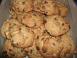 Chocolate chip macadamia nut cookies.