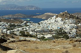 Chora of Ios island from New Theatre, 130409.jpg