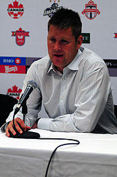 Chris Cummins at a Toronto FC press conference in 2009.
