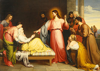 Miracles of Jesus - Image: Christ Healing the Mother of Simon Peter's Wife by John Bridges