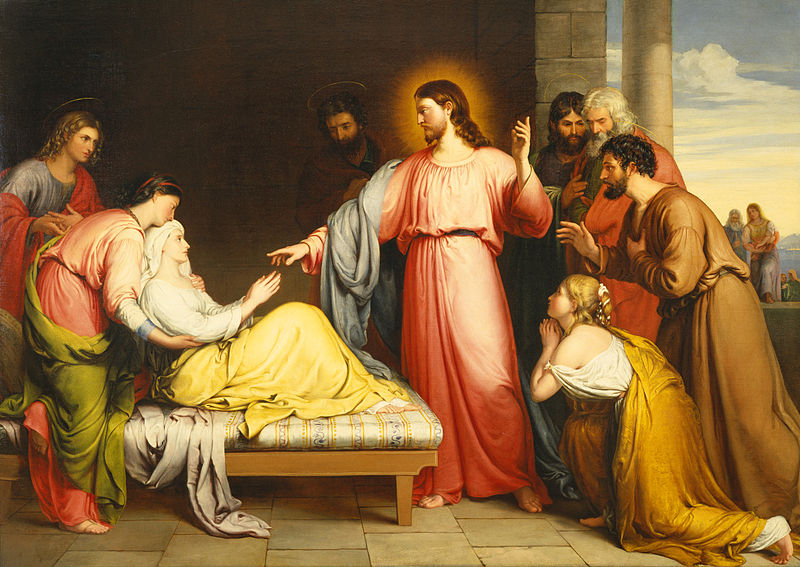 Picha:Christ Healing the Mother of Simon Peter's Wife by John Bridges.jpg
