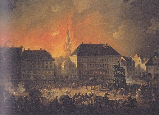 Christian August Lorentzen - Københavns Bombardement - 1807