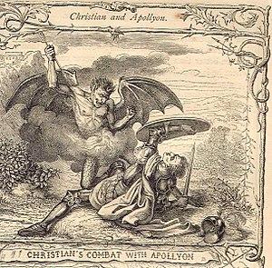 Abaddon - Image: Christianandapollyon