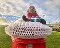 Christmas Crochet figure, Inverkip pillarbox 2.jpg