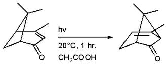 Verbenone - Chrysanthenone from verbenone