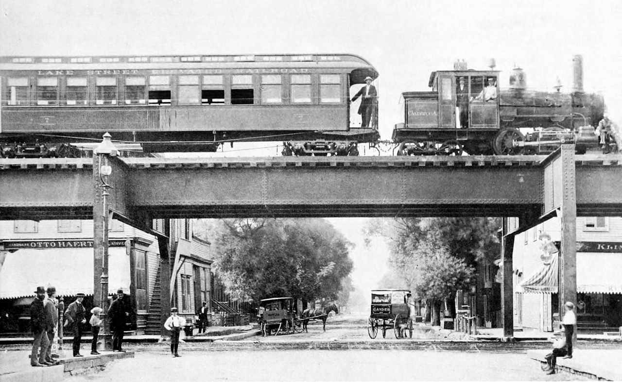 File Clarence A Train On The Lake Street Elevated 1893