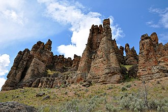 John Day Fossil Beds National Monument - Palisades at the Clarno Unit of the monument