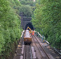 Claycross Tunnel track renewal (7338458692).jpg