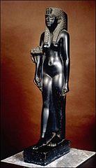 Estatua de basalto negro de Cleopatra VII