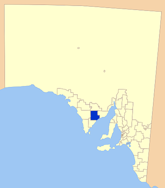 District Council of Cleve - Location of the District Council of Cleve
