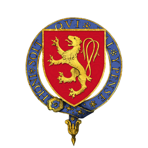Bartholomew de Burghersh, 2nd Baron Burghersh - Arms of Sir Bartholomew de Burghersh, KG -- Gules a lion rampant double-queued or